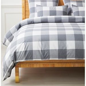 New Serena and lily gingham duvet cover